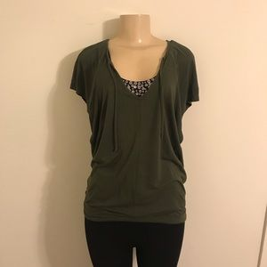 Drapey V Neck Top